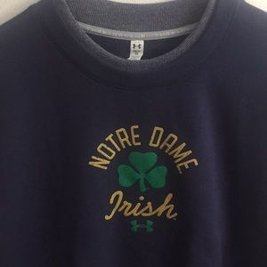 Under Armour Notre Dame Crewneck Sweatshirt sz S